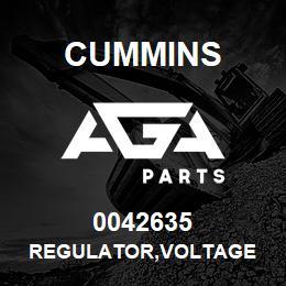 0042635 Cummins REGULATOR,VOLTAGE | AGA Parts