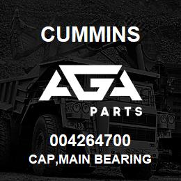 004264700 Cummins CAP,MAIN BEARING | AGA Parts
