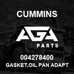 004278400 Cummins GASKET,OIL PAN ADAPTER | AGA Parts