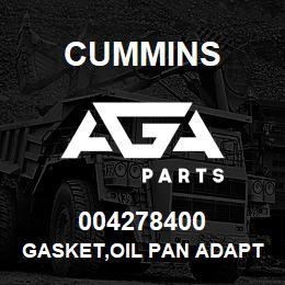 004278400 Cummins GASKET,OIL PAN ADAPTER | AGA Parts