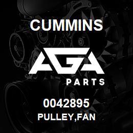 0042895 Cummins PULLEY,FAN   AGA Parts