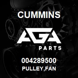 004289500 Cummins PULLEY,FAN | AGA Parts