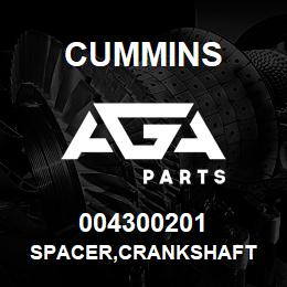 004300201 Cummins SPACER,CRANKSHAFT | AGA Parts