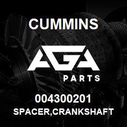 004300201 Cummins SPACER,CRANKSHAFT | AGA Parts