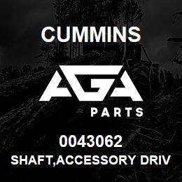 0043062 Cummins SHAFT,ACCESSORY DRIVE | AGA Parts