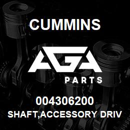 004306200 Cummins SHAFT,ACCESSORY DRIVE | AGA Parts