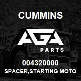 004320000 Cummins SPACER,STARTING MOTOR | AGA Parts