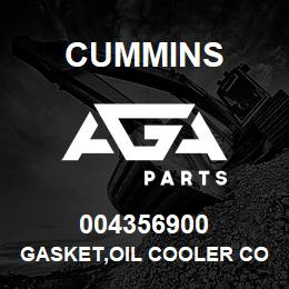 004356900 Cummins GASKET,OIL COOLER CORE | AGA Parts