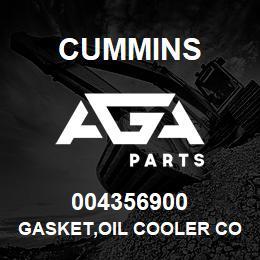 004356900 Cummins GASKET,OIL COOLER CORE | AGA Parts
