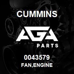 0043579 Cummins FAN,ENGINE | AGA Parts