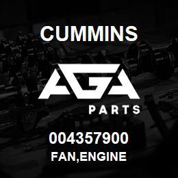 004357900 Cummins FAN,ENGINE | AGA Parts