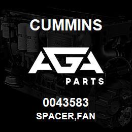 0043583 Cummins SPACER,FAN | AGA Parts