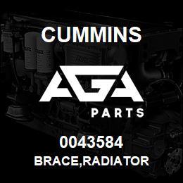 0043584 Cummins BRACE,RADIATOR | AGA Parts
