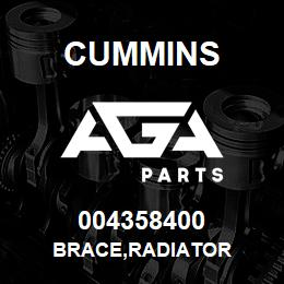 004358400 Cummins BRACE,RADIATOR | AGA Parts