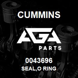 0043696 Cummins SEAL,O RING | AGA Parts
