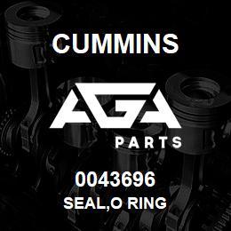 0043696 Cummins SEAL,O RING | AGA Parts