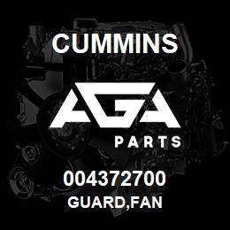 004372700 Cummins GUARD,FAN | AGA Parts