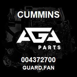 004372700 Cummins GUARD,FAN | AGA Parts