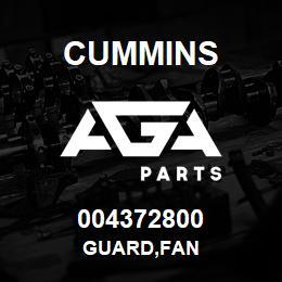 004372800 Cummins GUARD,FAN | AGA Parts