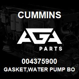 004375900 Cummins GASKET,WATER PUMP BODY | AGA Parts