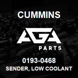 0193-0468 Cummins SENDER, LOW COOLANT | AGA Parts