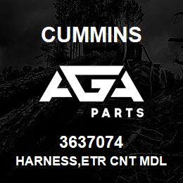 3637074 Cummins HARNESS,ETR CNT MDL WRG | AGA Parts