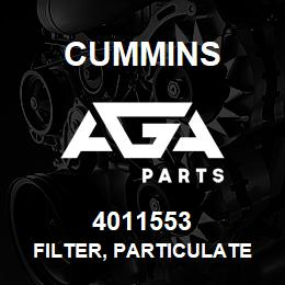 4011553 Cummins FILTER, PARTICULATE | AGA Parts