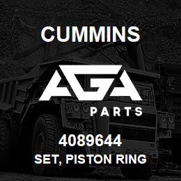 4089644 Cummins SET, PISTON RING | AGA Parts