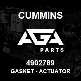 Cummins GASKET,ACTUATOR 4902789