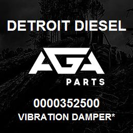 0000352500 Detroit Diesel Vibration Damper* | AGA Parts