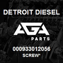 000933012056 Detroit Diesel Screw* | AGA Parts