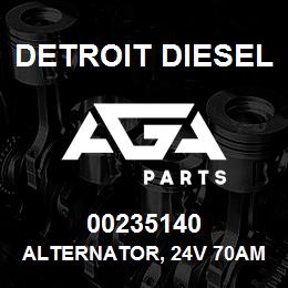 00235140 Detroit Diesel Alternator, 24V 70Amp 21SI* | AGA Parts