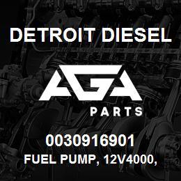 0030916901 Detroit Diesel Fuel Pump, 12V4000, Low Pressure MDEC*   AGA Parts