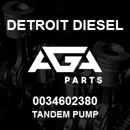 0034602380 Detroit Diesel Tandem Pump | AGA Parts