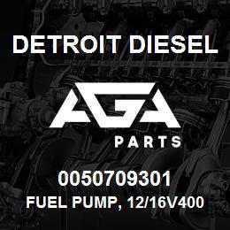 0050709301 Detroit Diesel Fuel Pump, 12/16V4000, High Pressure* | AGA Parts
