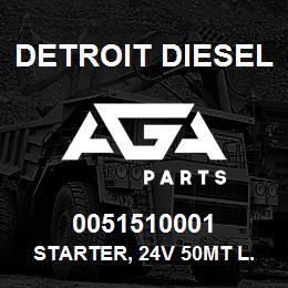 0051510001 Detroit Diesel Starter, 24V 50MT L.B.*   AGA Parts