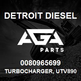 0080965699 Detroit Diesel Turbocharger, UTV8902 w/GT55 Turbine | AGA Parts
