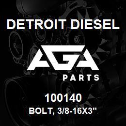 100140 Detroit Diesel Bolt, 3/8-16x3