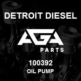 100392 Detroit Diesel OIL PUMP | AGA Parts