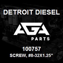 100757 Detroit Diesel Screw, #8-32x1.25