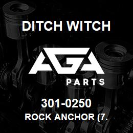 301-0250 Ditch Witch ROCK ANCHOR (7. | AGA Parts