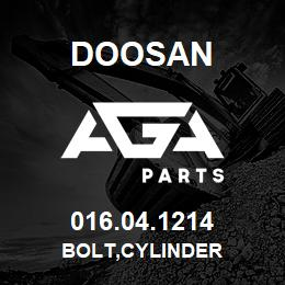016.04.1214 Doosan BOLT,CYLINDER | AGA Parts