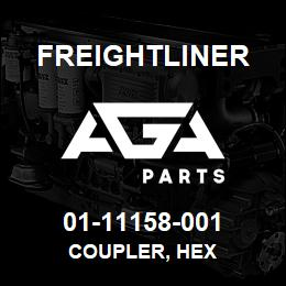 01-11158-001 Freightliner COUPLER, HEX | AGA Parts