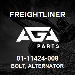 01-11424-008 Freightliner BOLT, ALTERNATOR   AGA Parts