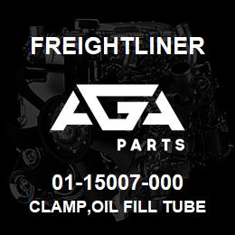 01-15007-000 Freightliner CLAMP,OIL FILL TUBE | AGA Parts