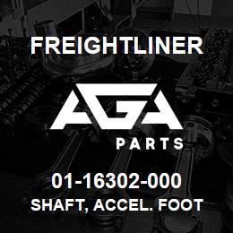 01-16302-000 Freightliner SHAFT, ACCEL. FOOT | AGA Parts