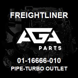 01-16666-010 Freightliner PIPE-TURBO OUTLET | AGA Parts
