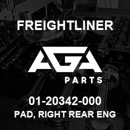 01-20342-000 Freightliner PAD, RIGHT REAR ENG | AGA Parts