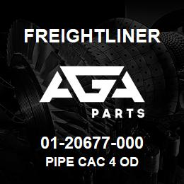 01-20677-000 Freightliner PIPE CAC 4 OD | AGA Parts