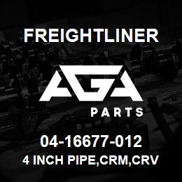 04-16677-012 Freightliner 4 INCH PIPE,CRM,CRV | AGA Parts